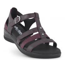 New Feet Dark Wine Sandal m/hælkappe