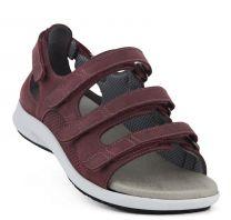 New Feet Sandal Bordeaux m/hælkappe