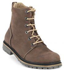 New Feet Brun Snørestøvle