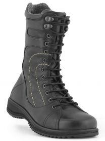 New Feet Snørestøvle Sort glat læder