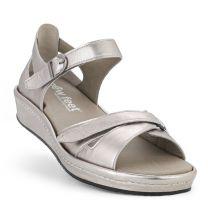 New Feet Sølv Sandal m/hælkappe