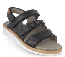New Feet Sort Sandal Glat Læder