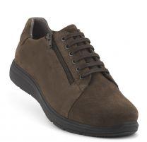 New Feet Brun Snøresko med Ruskind