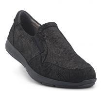 New Feet Sort Loafer med Print