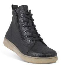 New Feet Sort Støvle med Print