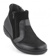 New Feet Sort Støvle med Stretch