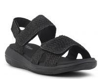 Green Comfort Sort Sandal Lakseskind