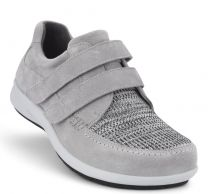 New Feet bred lysegrå sko Ruskind