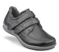 New Feet bred sko Sort m/velcro