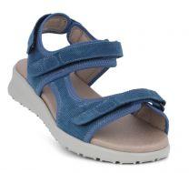 New Feet Blå Sandal Kalveskind