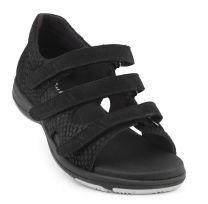 New Feet Sort Sandal m. Hælkappe
