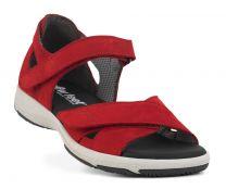 New Feet Rød Sandal m. Hælkappe