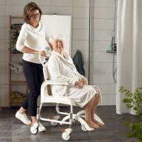 Bade og Toiletstol Clean Højdejusterbar Hvid