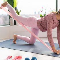 Gymnastik elastikbånd, sæt med 5 farver
