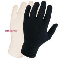 Tynde handsker m. fingre - naturfarvet