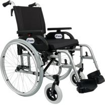 Kørestol Alu 57 cm sædebredde