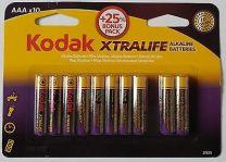 AAA Batteri Kodak 10 stk pak.