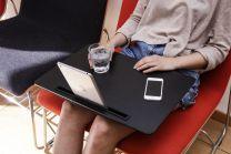 Sengebord XL Sort m/tablet holder