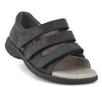 New Feet Sort Sandal m/hælkappe