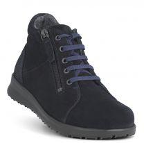 New Feet Mørkeblå Støvle med Lynlås
