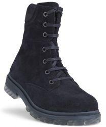 New Feet Mørkeblå Ruskind Støvle