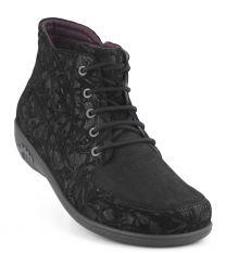 New Feet Sort Printet Støvle
