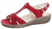 Fidelio Rød Sandal med velcroremme