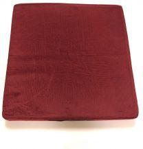 Siddepude Halvcoxit 50x50x7,5cm, Rød