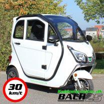 Kabinescooter Bach 25 3-hjul 30 km./t