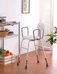 Køkkenstol m/ryglæn justerbar