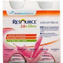 Resource 2.0, +fibre Jordbær 4 stk.